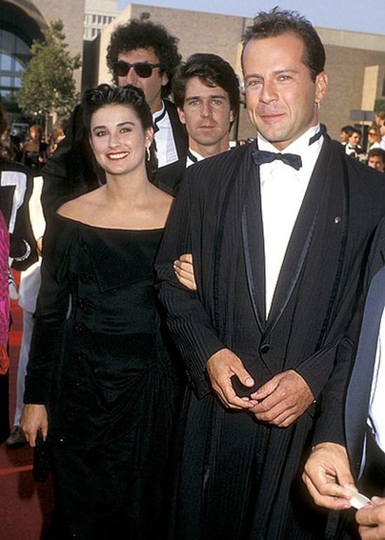 Деми Мур и ее второй муж Брюс Уиллис
