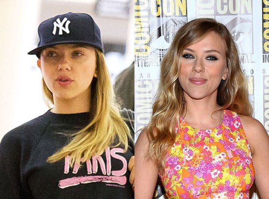 До и после: Знаменитости без макияжа и с косметикой — Starnote скарлетт йоханссон без макияжа