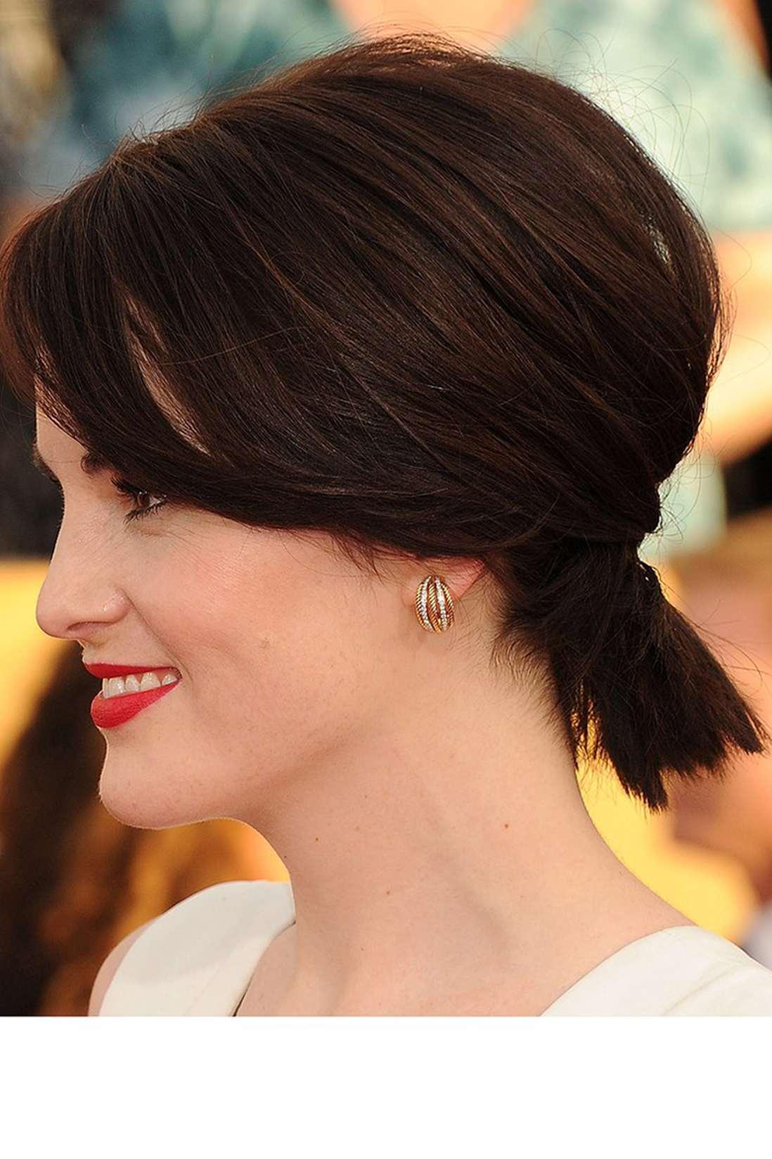 Прически на хвосту с короткими волосами
