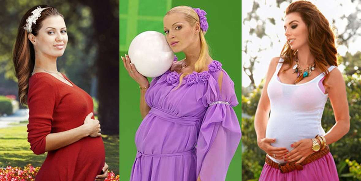 русские беременные артистки фото