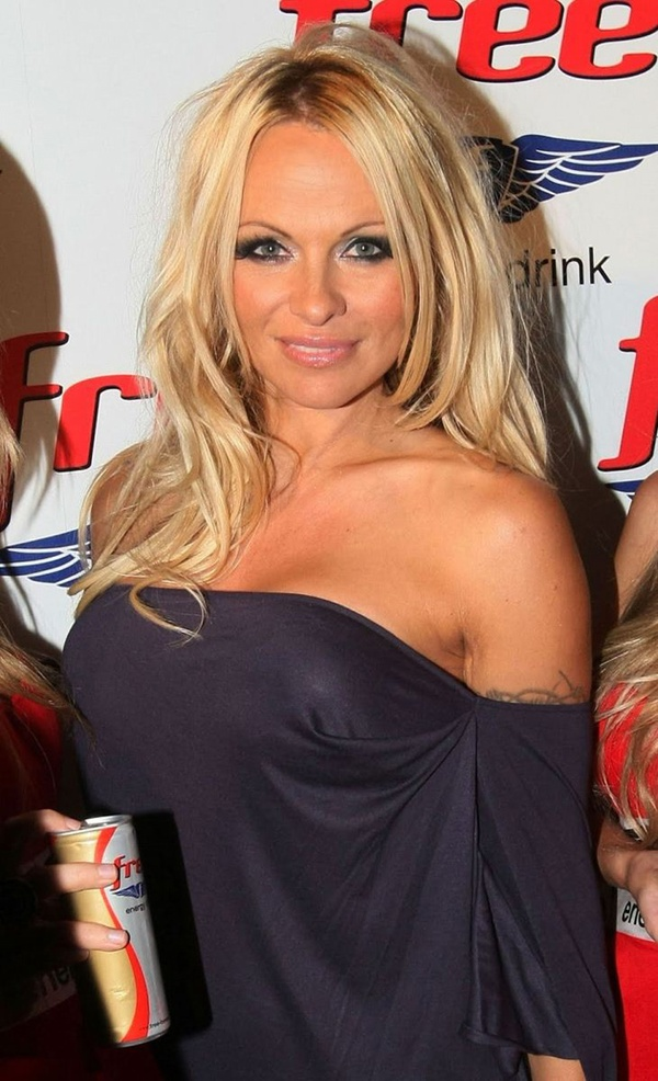 Pictures of pamela andersons breast