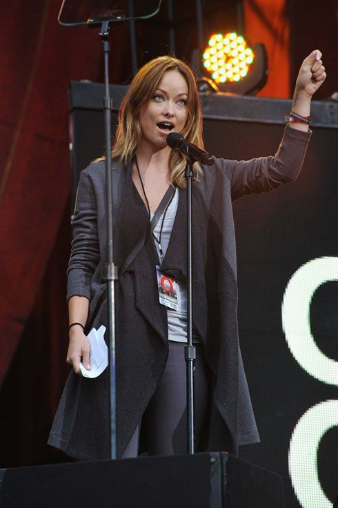 Оливия Уайлд на The Global Citizen Festival 2012
