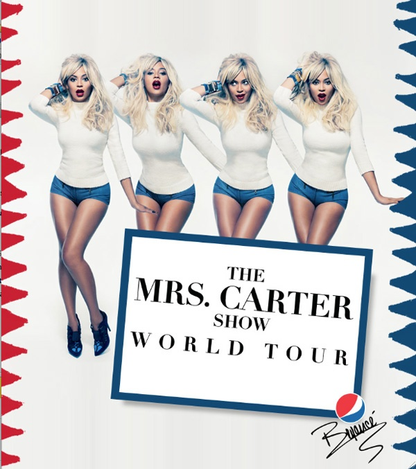 Блондинка Бейонсе на промо-фото Mrs. Carter Show World Tour