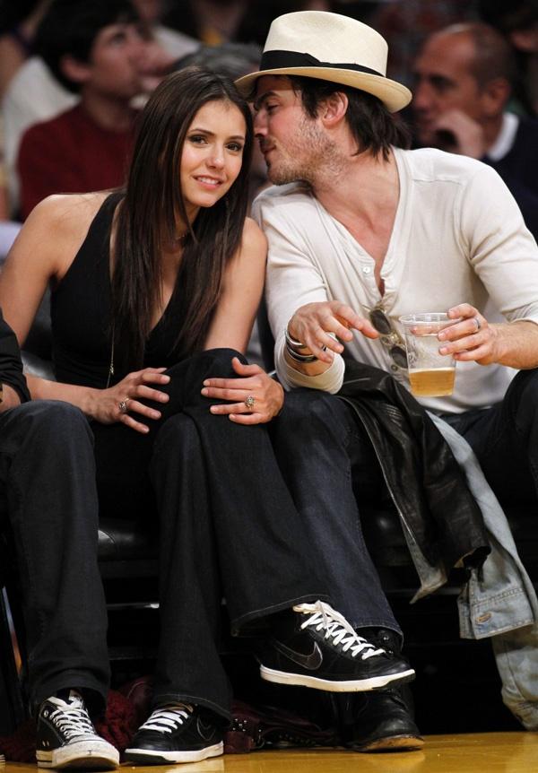 How long has nina dobrev and ian somerhalder been dating