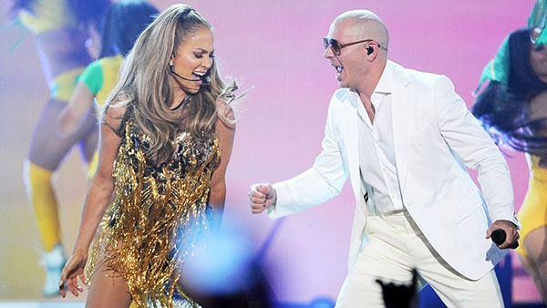 Дженифер Лопес и Pitbull на Billboard Music Awards 2014